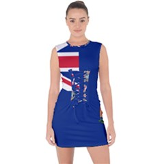 Flag Of Ascension Island Lace Up Front Bodycon Dress