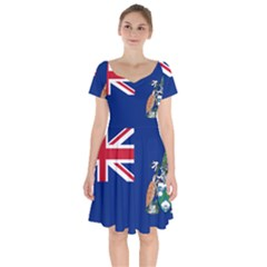 Flag Of Ascension Island Short Sleeve Bardot Dress