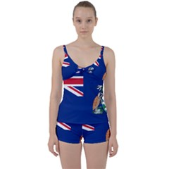 Flag Of Ascension Island Tie Front Two Piece Tankini