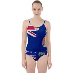 Flag Of Ascension Island Cut Out Top Tankini Set