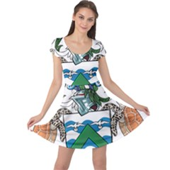 Flag Of Ascension Island Cap Sleeve Dress