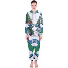 Flag Of Ascension Island Hooded Jumpsuit (ladies)