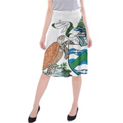 Flag Of Ascension Island Midi Beach Skirt