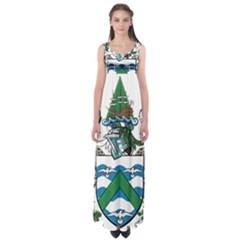 Flag Of Ascension Island Empire Waist Maxi Dress