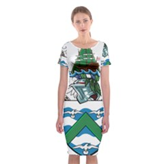 Flag Of Ascension Island Classic Short Sleeve Midi Dress
