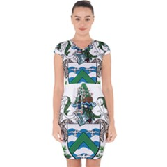 Flag Of Ascension Island Capsleeve Drawstring Dress