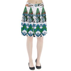 Flag Of Ascension Island Pleated Skirt