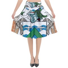 Flag Of Ascension Island Flared Midi Skirt