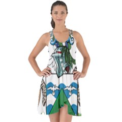 Flag Of Ascension Island Show Some Back Chiffon Dress