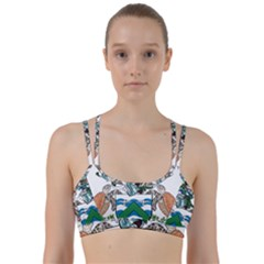 Flag Of Ascension Island Line Them Up Sports Bra