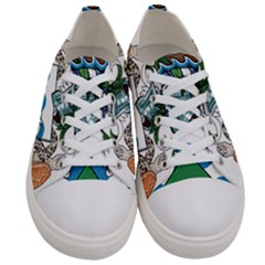 Flag Of Ascension Island Women s Low Top Canvas Sneakers