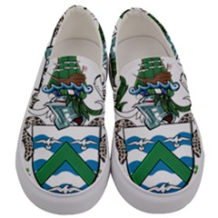 Flag Of Ascension Island Men s Canvas Slip Ons