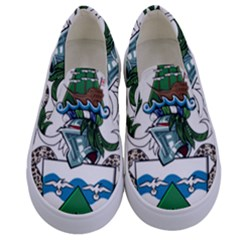 Flag Of Ascension Island Kids  Canvas Slip Ons