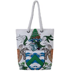 Flag Of Ascension Island Full Print Rope Handle Tote (small)