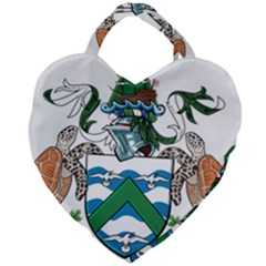 Flag Of Ascension Island Giant Heart Shaped Tote