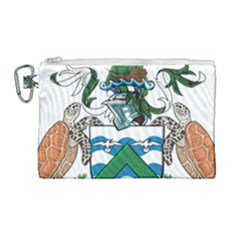 Flag Of Ascension Island Canvas Cosmetic Bag (large)