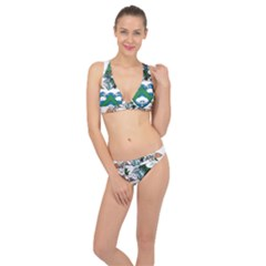 Flag Of Ascension Island Classic Banded Bikini Set