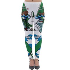 Flag Of Ascension Island Lightweight Velour Leggings