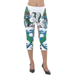 Flag Of Ascension Island Lightweight Velour Capri Leggings