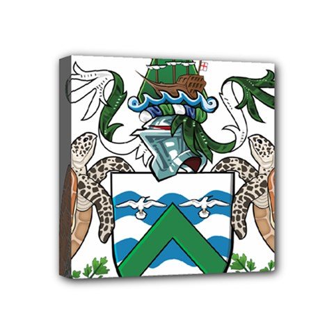 Coat Of Arms Of Ascension Island Mini Canvas 4  X 4
