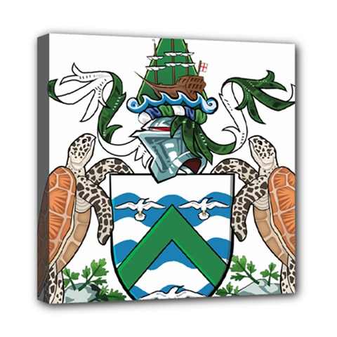 Coat Of Arms Of Ascension Island Mini Canvas 8  X 8