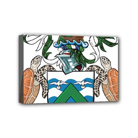 Coat Of Arms Of Ascension Island Mini Canvas 6  X 4