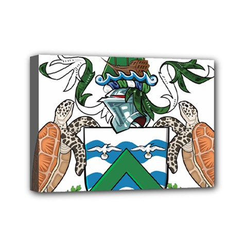 Coat Of Arms Of Ascension Island Mini Canvas 7  X 5