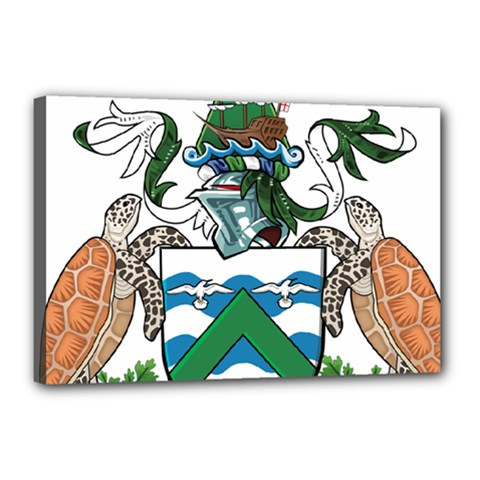 Coat Of Arms Of Ascension Island Canvas 18  X 12