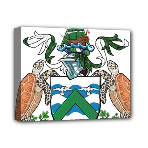 Coat Of Arms Of Ascension Island Deluxe Canvas 14  X 11