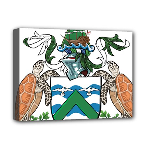Coat Of Arms Of Ascension Island Deluxe Canvas 16  X 12