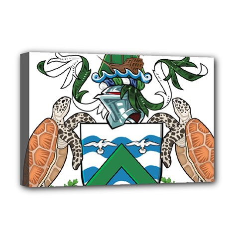 Coat Of Arms Of Ascension Island Deluxe Canvas 18  X 12