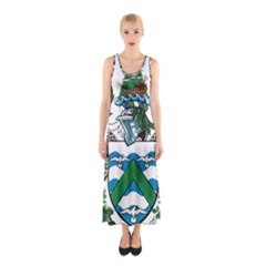 Coat Of Arms Of Ascension Island Sleeveless Maxi Dress