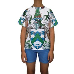 Coat Of Arms Of Ascension Island Kids  Short Sleeve Swimwear