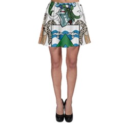 Coat Of Arms Of Ascension Island Skater Skirt