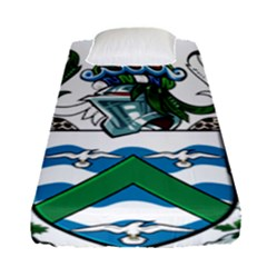 Coat Of Arms Of Ascension Island Fitted Sheet (single Size)