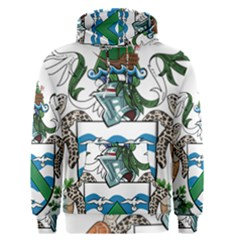Coat Of Arms Of Ascension Island Men s Pullover Hoodie