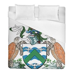 Coat Of Arms Of Ascension Island Duvet Cover (full/ Double Size) by abbeyz71
