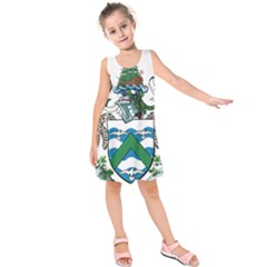 Coat Of Arms Of Ascension Island Kids  Sleeveless Dress
