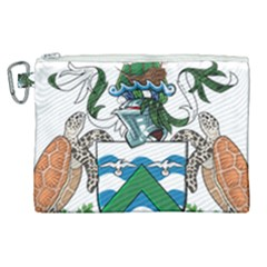 Coat Of Arms Of Ascension Island Canvas Cosmetic Bag (xl) by abbeyz71