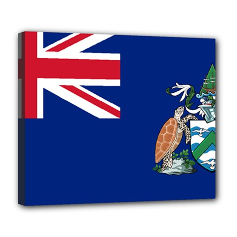 Flag Of Ascension Island Deluxe Canvas 24  X 20   by abbeyz71