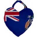Flag of Ascension Island Giant Heart Shaped Tote View1
