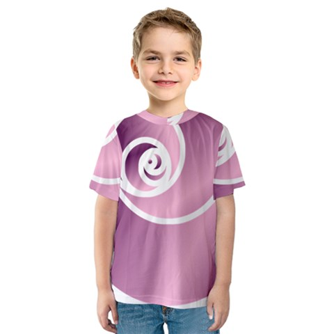 Rose  Kids  Sport Mesh Tee by Jylart