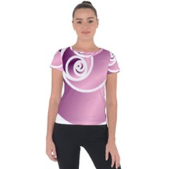 Rose  Short Sleeve Sports Top