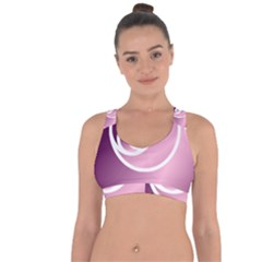 Rose  Cross String Back Sports Bra by Jylart