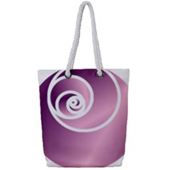 Rose  Full Print Rope Handle Tote (small) by Jylart