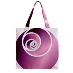 Rose  Zipper Grocery Tote Bag by Jylart