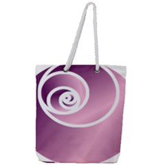 Rose  Full Print Rope Handle Tote (large) by Jylart