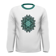 Emerald Flower Mandala Men s Long Sleeve Tee by flowermandalas