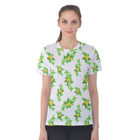 Airy Floral Pattern Women s Cotton Tee by dflcprints