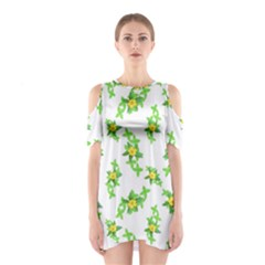 Airy Floral Pattern Shoulder Cutout One Piece by dflcprints